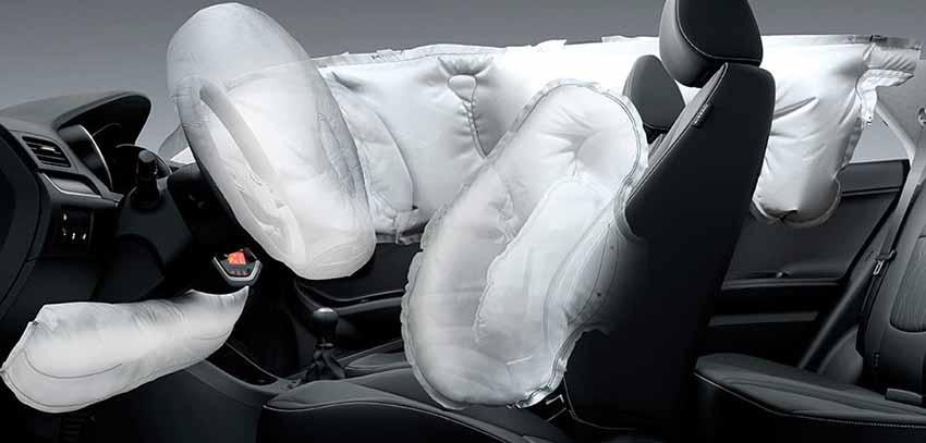 Салон КИА Пиканто - подушки безопасности - фото интерьера.