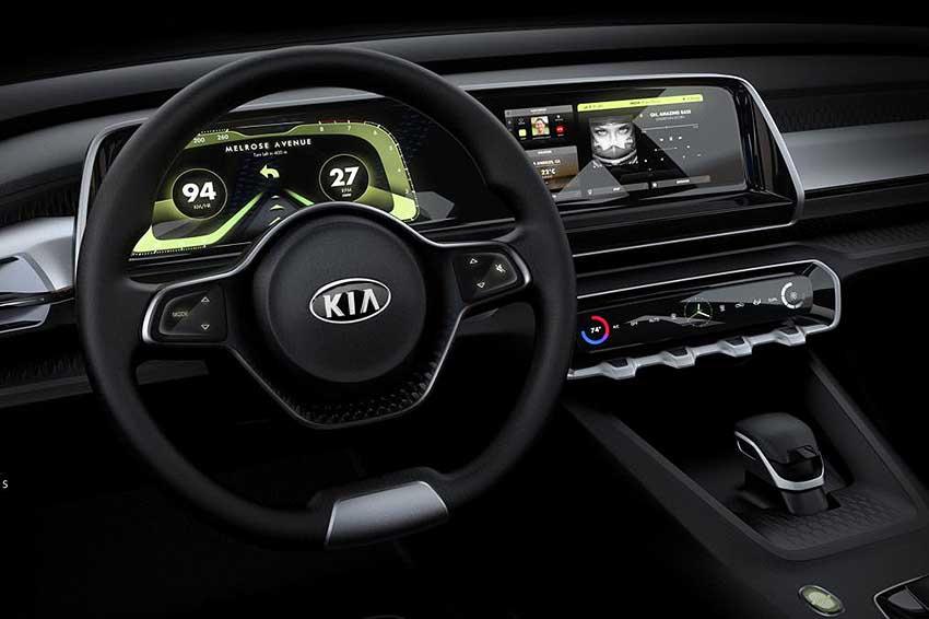 Интерьер автомобиля KIA Telluride - руль, приборная панель