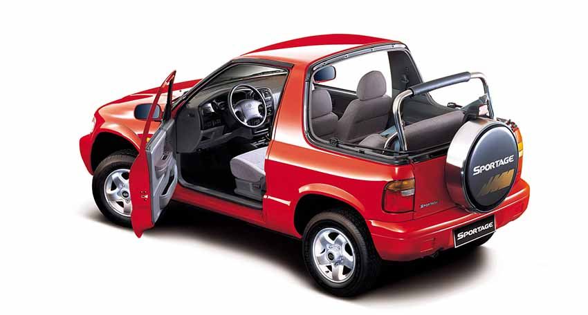 КИА Спортейдж 1-го поколения, 2 двери, 1994 год