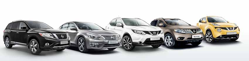 Модельный ряд автомобилей Nissan