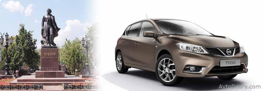 Официальные дилеры Ниссан в Ростове-на-Дону - на фото новый Nissan Tiida