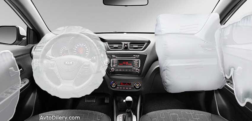 Безопасность КИА РИО - подушки безопасности в салоне автомобиля - KIA Rio - airbag