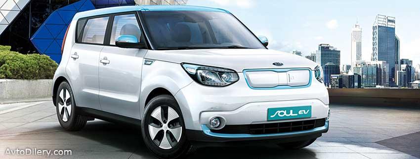 На фото KIA Soul EV - внешний вид автомобиля - экстерьер