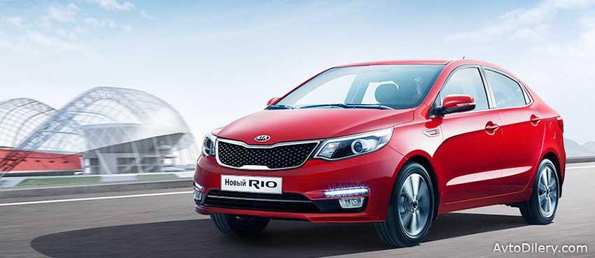 Новый КИА РИО - технические характеристики, комплектация и цены на автомобиль. На фото KIA Rio красного цвета.