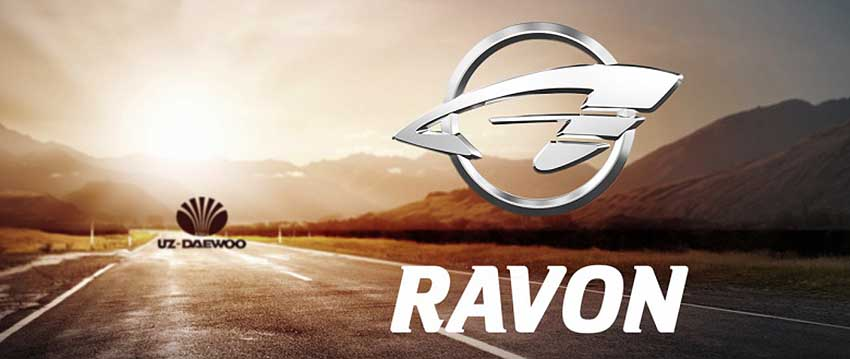 Логотип Ravon - шильдик на автомобилях бренда Равон