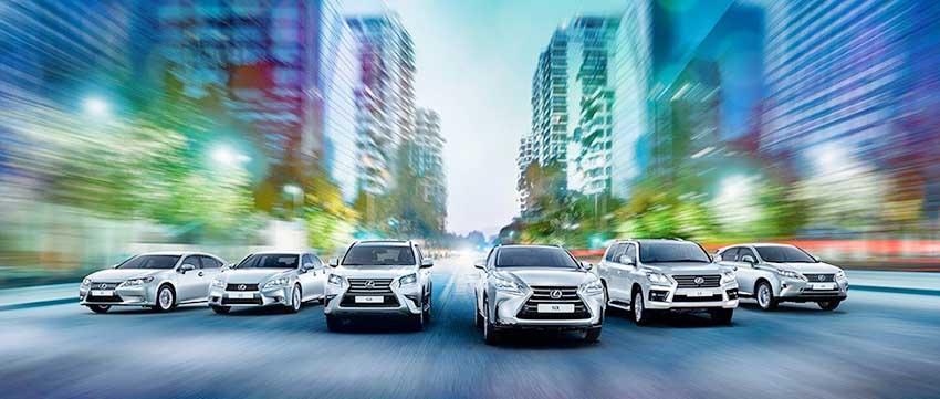Модельный ряд автомобилей Lexus