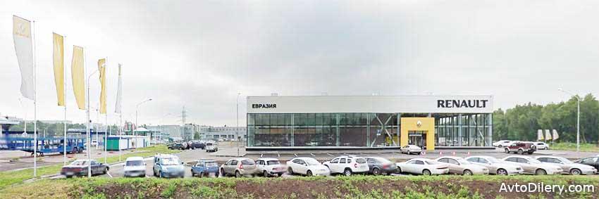 Купить Рено в Омске можно в автосалоне Евразия - Кондратюка, 8 - официальный дилер новых Renault - фото центра.