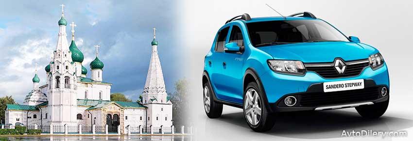 Официальные дилеры Рено в Ярославле - на фото Renault Sandero Stepway синего цвета