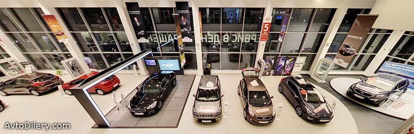 Фото автомобилей КИА внутри автоцентра Василеостровский на Уральской, 33 в СПб