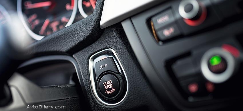 Что такое система старт-стоп и для чего она нужна. Кнопка пуска двигателя на панеле.