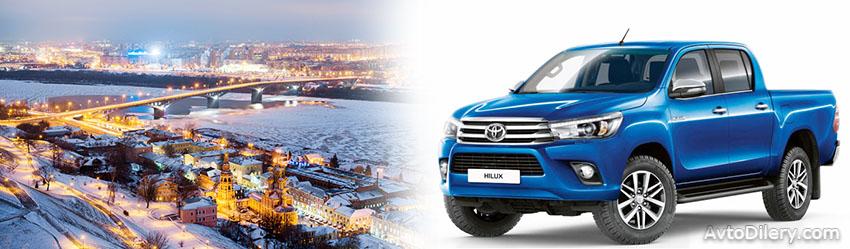 Официальные дилеры Тойота в Нижнем Новгороде - на фото новая Toyota Hilux 2016 2017